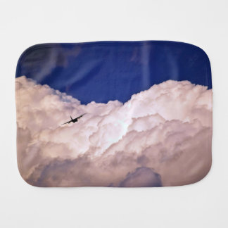 Military Transport Airplane by Shirley Taylor Baby Burp Cloth