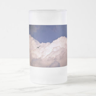 Military Transport Airplane by Shirley Taylor Frosted Glass Beer Mug