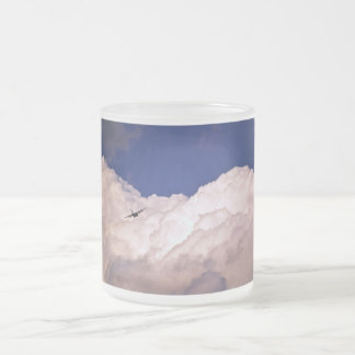 Military Transport Airplane by Shirley Taylor Frosted Glass Coffee Mug