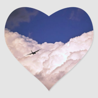 Military Transport Airplane by Shirley Taylor Heart Sticker