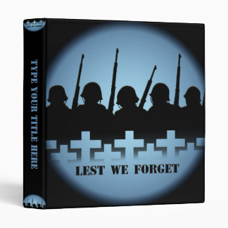 Military Tribute Binder Lest We Forget Books