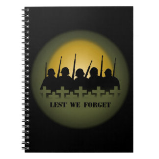 Military Tribute Notebook Lest We Forget Books