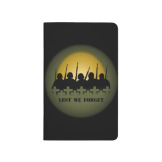 Military Tribute Notebook Lest We Forget Books Journals