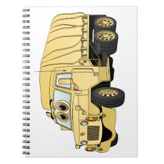 Military Troop Truck Cartoon Sand Notebook