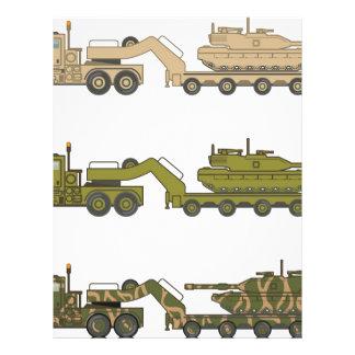 Military Truck pulling tank Letterhead