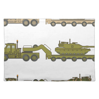 Military Truck pulling tank Placemat