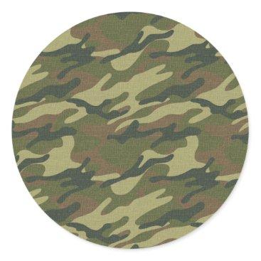 Military Uniform Classic Round Sticker