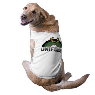 MILITARY UNIFORM RAINBOW PET SHIRT