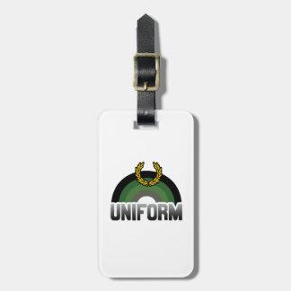 MILITARY UNIFORM RAINBOW TAGS FOR BAGS