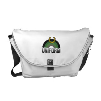 MILITARY UNIFORM RAINBOW MESSENGER BAG
