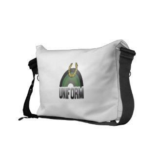 MILITARY UNIFORM RAINBOW COURIER BAG