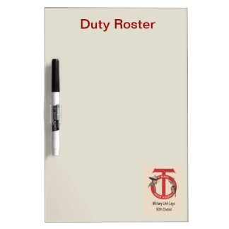 Military Unit Logo 90th Division, Duty Roster Dry-Erase Board
