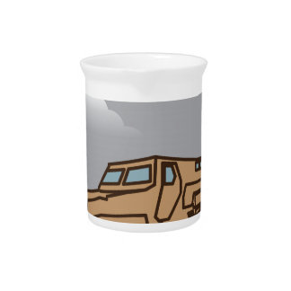 Military Vehicle Beverage Pitcher