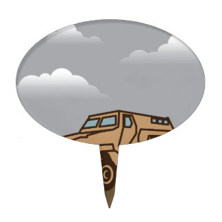 Military Vehicle Cake Topper