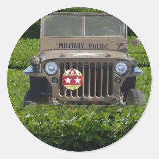 Military Vehicle Classic Round Sticker