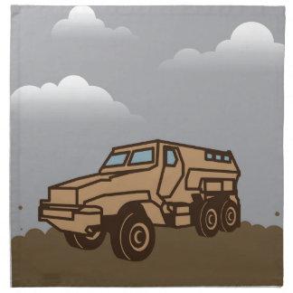 Military Vehicle Cloth Napkin