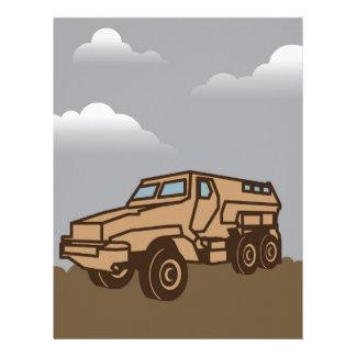 Military Vehicle Letterhead