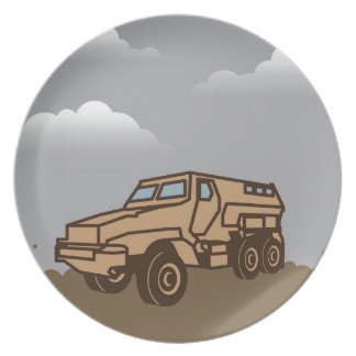 Military Vehicle Melamine Plate