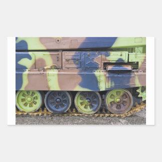 military vehicle rectangular sticker