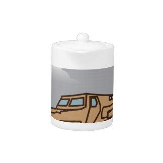 Military Vehicle Teapot