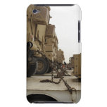 Military vehicles are locked down on semi truck iPod touch Case-Mate case