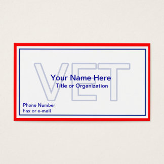 Military Veteran Business Card