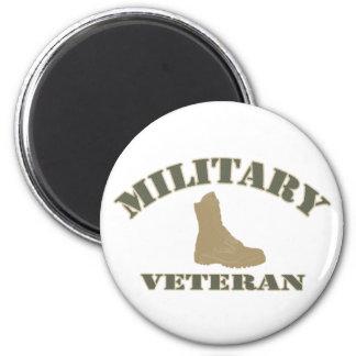 Military Veteran Button 2 Inch Round Magnet
