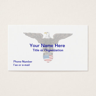 Military Veteran Eagle Business Card