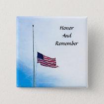 Military Veteran Hero Honor Button