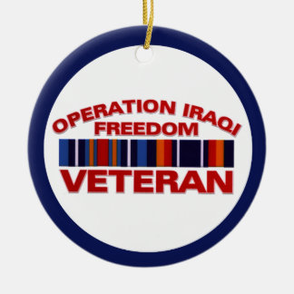 Military Veteran Operation Iraqi Freedom Custom Ceramic Ornament