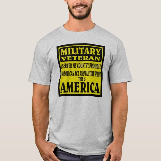 MILITARY VETERAN. T-Shirt