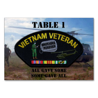 Military Vietnam nam war veterans vets Table Cards