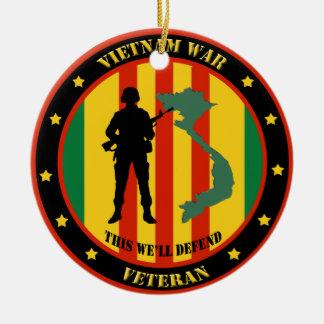 Military Vietnam War Veteran Custom Ornament