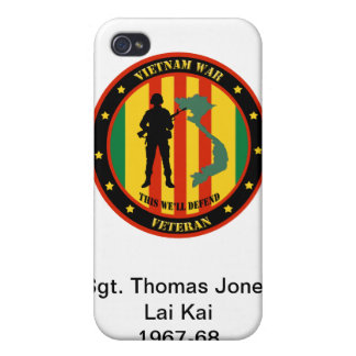 Military Vietnam War Veteran IPhone 4 Custom Case