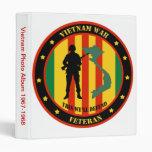 Military Vietnam War Veteran Photo Album 3 Ring Binder