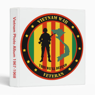 Military Vietnam War Veteran Photo Album 3 Ring Binder