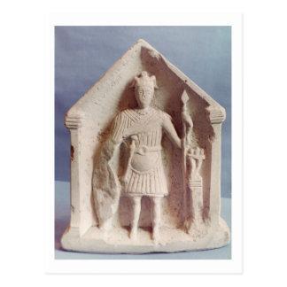 Military votive tablet, found at Bisley, Roman (st Postcard