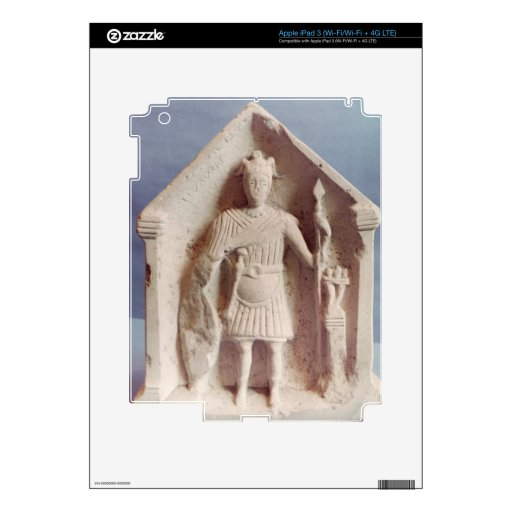 Military votive tablet, found at Bisley, Roman (st Decal For iPad 3