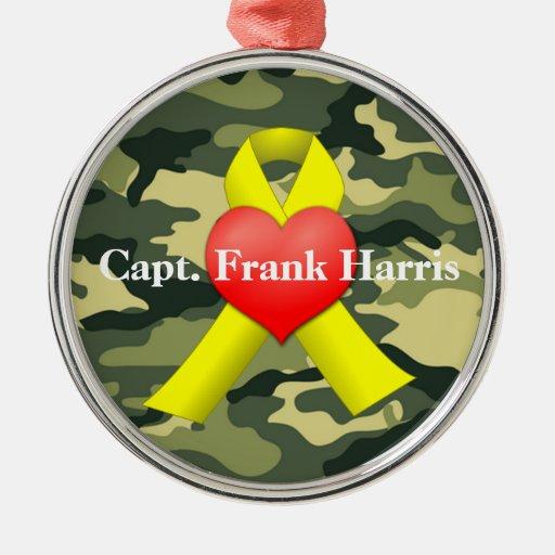 Military War Veteran Keychain Round Metal Christmas Ornament