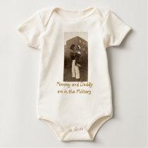Military Wedding Baby Bodysuit