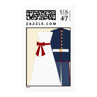 Military Wedding Custom Postage