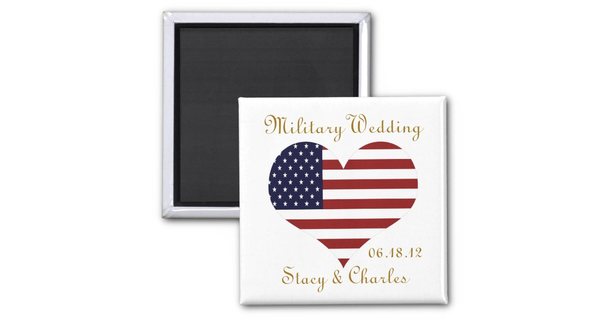 Military Wedding Favor Personalized Magnet