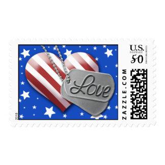 Military Wedding Invitation Postage Stamp