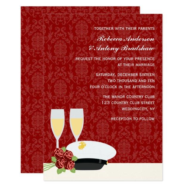 Beautiful Military Wedding Invitations Zazzle