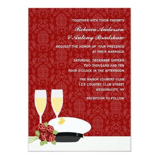 military wedding invitations zazzle