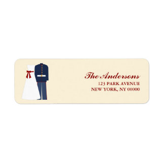 Military Wedding Return Address Label