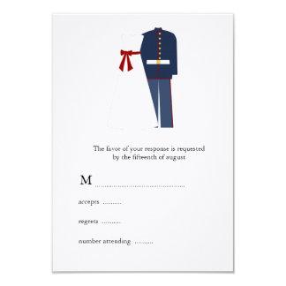 Military Wedding RSVP Cards