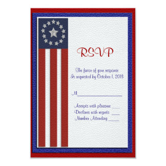 Military wedding RSVP response card