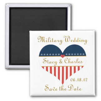 Military Wedding Save the Date Personalized Magnet