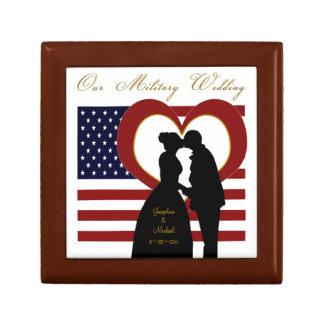 Military Wedding Silhouette Favor Box Custom Trinket Boxes